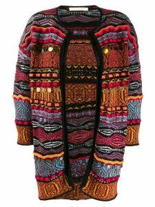 Cecilia Prado 3D intarsia-knit cardigan - Black