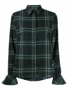 Fay plaid-print slim-fit shirt - Green