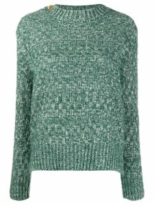 Vanessa Bruno check knit sweater - Green