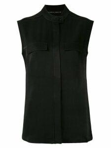 Gloria Coelho buttuon-up sleeveless shirt - Black