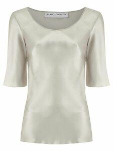 Gloria Coelho satin blouse - SILVER