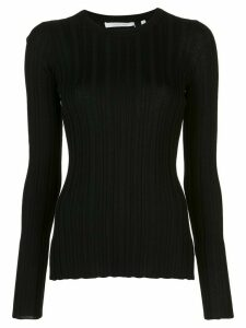 Helmut Lang ribbed long-sleeved top - Black