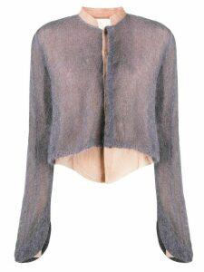 PHAEDO STUDIOS hybrid shirt cardigan - PURPLE