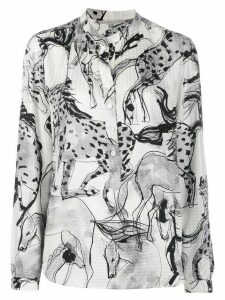 Stella McCartney Horse print tunic shirt - White