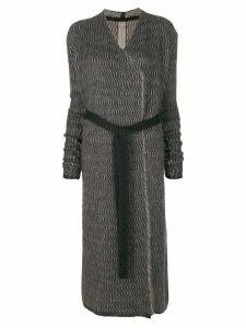 Rick Owens tied longline cardigan - Grey