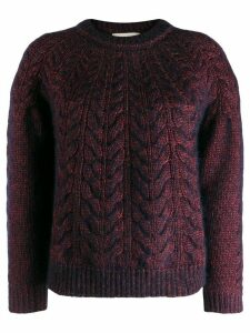 Vanessa Bruno cable knit jumper - Red
