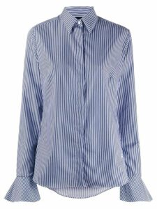 Fay striped slim-fit shirt - Blue