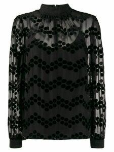 Tory Burch velvet devoré blouse - Black