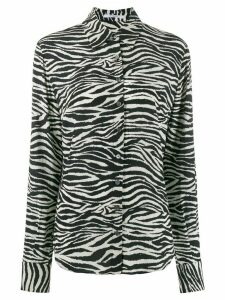Derek Lam 10 Crosby zebra print button down shirt - White