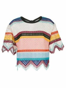 Carolina Herrera striped crochet top - Multicolour