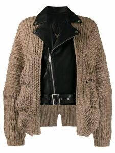 Jovonna Westin biker jacket cardigan - Brown