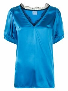 Macgraw Shadow lace-detail blouse - Blue