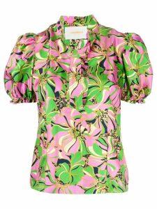 La Doublej x Mantero floral print blouse - PINK