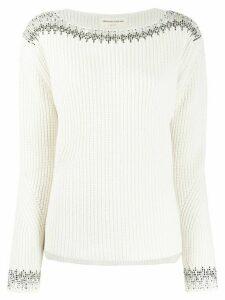 Ermanno Scervino intarsia knit jumper - NEUTRALS