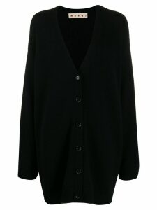 Marni contrast trim oversized cardigan - Black