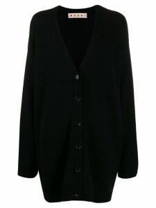 Marni contrast trim oversized cardigan - Black