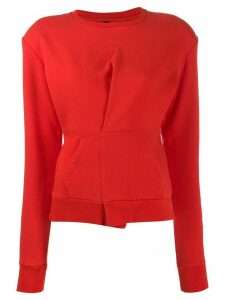 Unravel Project folded detail sweatshirt - Red