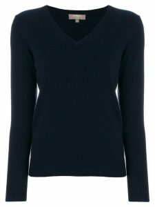 N.Peal v-neck jumper - Blue
