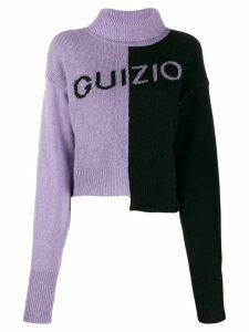 Danielle Guizio logo print jumper - PURPLE