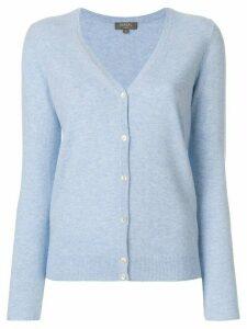 N.Peal cashmere V-neck cardigan - Blue