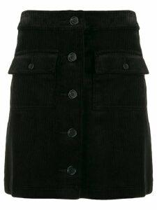 YMC corduroy straight skirt - Black