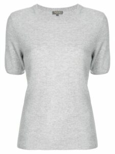 N.Peal cashmere round neck T-shirt - Grey