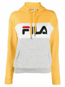 Fila logo print hoodie - Yellow