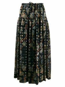 Chloé floral-print maxi skirt - Blue