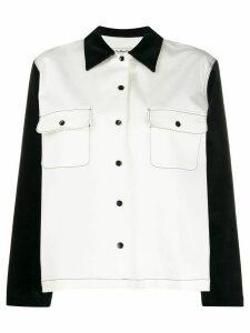 YMC color block shirt - White