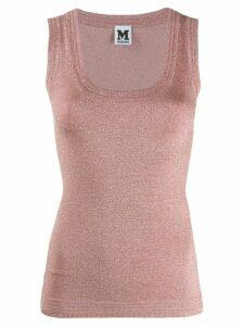 M Missoni glitter stretch vest top - PINK