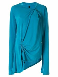 Unravel Project asymmetric ruched detail top - Blue