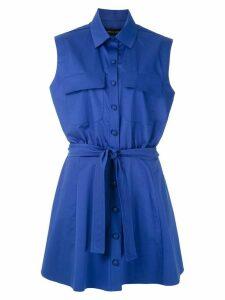 Gloria Coelho sleeveless shirt dress - Blue
