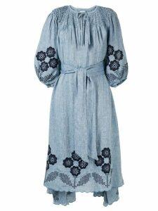 Innika Choo Hugh Jesmock midi dress - Blue