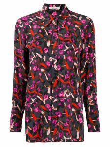 Dorothee Schumacher abstract print long-sleeve blouse - Grey