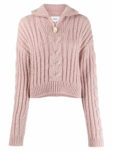 Nanushka Eria high-neck sweater - PINK