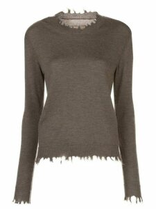 Uma Wang frayed edges jumper - Brown