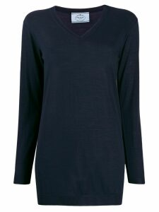 Prada long-length knitted jumper - Blue
