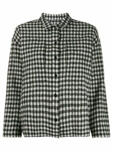 YMC checked relaxed shirt - Black