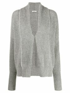 Brunello Cucinelli ribbed loose-fit cardigan - Grey
