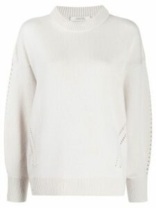 Dorothee Schumacher punch-hole detail jumper - NEUTRALS