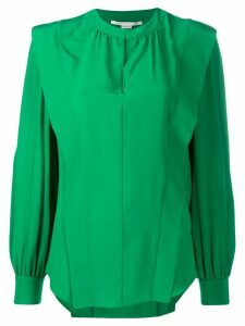 Stella McCartney shoulder-panel long-sleeve blouse - Green