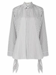 MRZ boxy fit striped shirt - White
