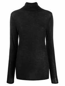 LIU JO turtleneck slim-fit jumper - Black