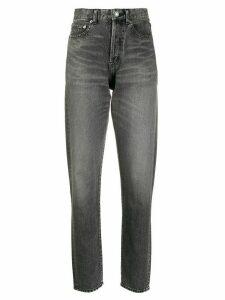 Saint Laurent high-rise straight leg jeans - Grey