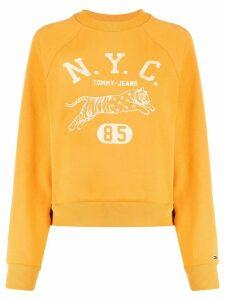 Tommy Jeans logo raglan sweatshirt - Yellow