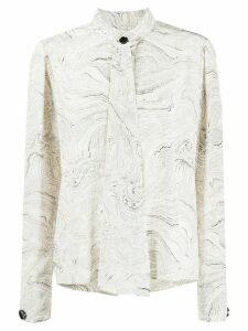 Lemaire marble print blouse - NEUTRALS
