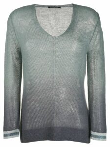 Luisa Cerano gradient effect jumper - Grey