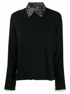 Luisa Cerano printed panels jumper - Black