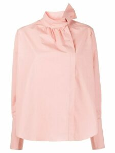 Fendi bow detail blouse - PINK
