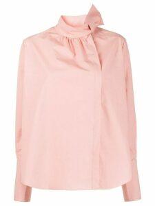 Fendi bow detail blouse - PINK